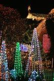 Exhibición de la luz de la Navidad Foto de archivo
