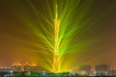 Exhibición de la luz del edificio, Guangzhou, China Fotos de archivo