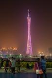 Exhibición de la luz del edificio, Guangzhou, China Foto de archivo