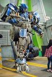 Exhibición de la prima de Optimus Fotos de archivo