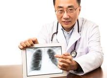 Exhibición de la radiografía de Dogital fotos de archivo libres de regalías