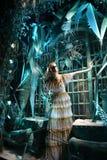 Exhibición de la ventana del día de fiesta en Bergdorf Goodman, NYC Fotos de archivo