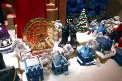 Exhibición de la ventana del invierno Imagen de archivo