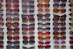 Exhibición de las gafas de sol Foto de archivo libre de regalías