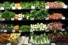 Exhibición de las verduras del mercado de Whole Foods Foto de archivo