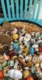 Exhibición de los botones de puerta del vintage Imagenes de archivo