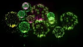 exhibición de los firewoks 4K fireckrackers coloridos en la noche del día de fiesta Versión 10 libre illustration