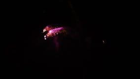 Exhibición de los fuegos artificiales almacen de video