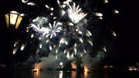 Exhibición de los fuegos artificiales de Disneyland fotografía de archivo libre de regalías