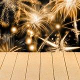 Exhibición de los fuegos artificiales del Año Nuevo o del día de fiesta Fotografía de archivo