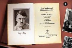Exhibición de Mein Kampf Imágenes de archivo libres de regalías