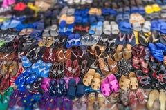 Exhibición de zapatos Foto de archivo libre de regalías