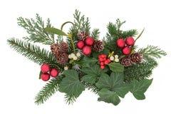 Exhibición decorativa de la Navidad Imagenes de archivo