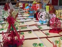 Exhibición del arte de la Navidad Foto de archivo libre de regalías