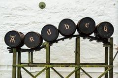 Exhibición del barril en Ardbeg Fotografía de archivo