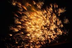 Exhibición del fuego artificial Imagen de archivo libre de regalías