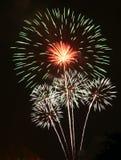 Exhibición del fuego artificial Fotografía de archivo libre de regalías