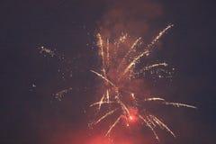 Exhibición 3 del fuego artificial Fotos de archivo libres de regalías