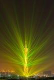 Exhibición del laser del edificio Fotografía de archivo libre de regalías