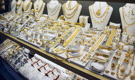 Exhibición del mercado de la joyería imagen de archivo libre de regalías