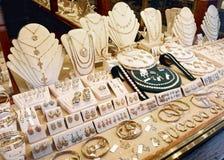 Exhibición del mercado de la joyería, entonada fotografía de archivo