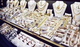 Exhibición del mercado de la joyería, entonada imagenes de archivo