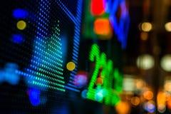 Exhibición del precio de mercado de acción Imágenes de archivo libres de regalías