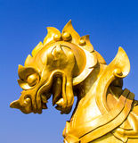 Exhibición del singha del oro en Boon Rawd Farm Foto de archivo libre de regalías