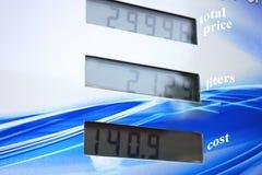 Exhibición del surtidor de gasolina Fotos de archivo libres de regalías
