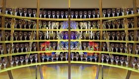 Exhibición del vidrio de cerveza de los artois de Stella Imagen de archivo