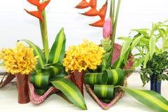 Exhibición floral artística Imagen de archivo libre de regalías