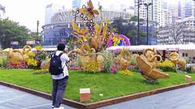 Exhibición floral 2015 del internationall de Hong-Kong Imagen de archivo libre de regalías