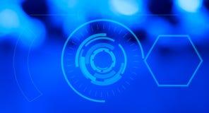 Exhibición futurista del GUI del hud del ordenador Fotografía de archivo