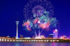 Exhibición internacional 02 de los fuegos artificiales de Macao Foto de archivo