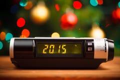 Exhibición llevada del despertador con 2015 Fotografía de archivo libre de regalías