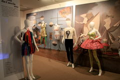 Exhibición magnífica en la cronología de la evolución del baile, Museo Nacional de la danza, Saratoga, 2015 Foto de archivo