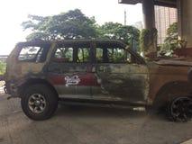 Exhibición quemada del coche Imagenes de archivo