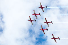 Exhibición roja de las flechas del día de Australia Imagen de archivo