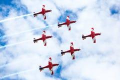 Exhibición roja de las flechas del día de Australia Fotografía de archivo
