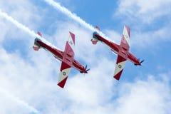 Exhibición roja de las flechas del día de Australia Fotos de archivo libres de regalías