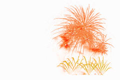 exhibición roja hermosa de los fuegos artificiales por la Feliz Año Nuevo a de la celebración Fotografía de archivo libre de regalías