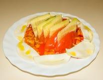 Exhibición sana adornada rica de la ensalada Imagen de archivo