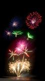 Exhibición Seafire de los fuegos artificiales Imagen de archivo libre de regalías
