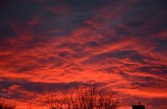 Exhibición superior de la puesta del sol de Cercano oeste Fotografía de archivo