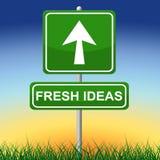 Exhibición y dirección del letrero de los medios de las ideas frescas Imagen de archivo libre de regalías
