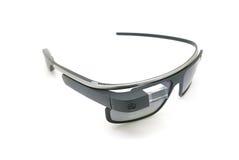 Exhibición de ordenador portátil de cristal de Google Imagen de archivo