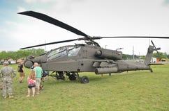 Exhibición del helicóptero de AH-64 Apache Fotografía de archivo libre de regalías