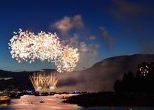 Exhibición Vancouver 2016 de los fuegos artificiales Fotografía de archivo libre de regalías