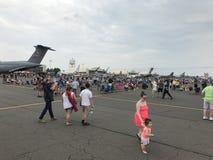 Exhibiciones de los parásitos atmosféricos en 2018 gran Nueva Inglaterra Airshow en Chicopee, Massachusetts Imágenes de archivo libres de regalías