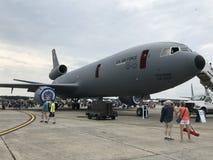 Exhibiciones de los parásitos atmosféricos en 2018 gran Nueva Inglaterra Airshow en Chicopee, Massachusetts fotografía de archivo